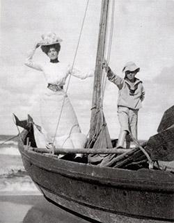 母とヨット